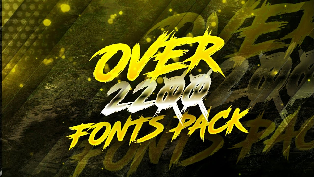 Download Over 2200+ Awesome Fonts Pack by nitzex | GFX Fonts Pack ...