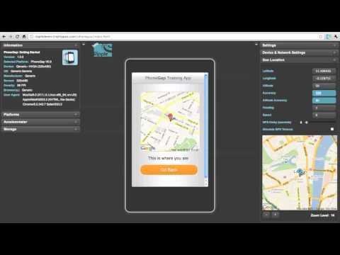 HTML5 Mobile Apps: PhoneGap GeoLocation