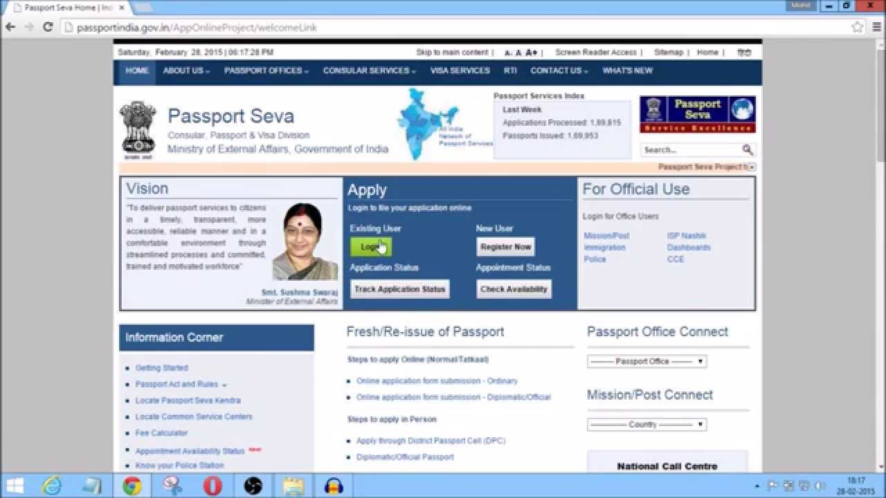 Passport Apply Online(Minors,Adults) Appointment Check ...