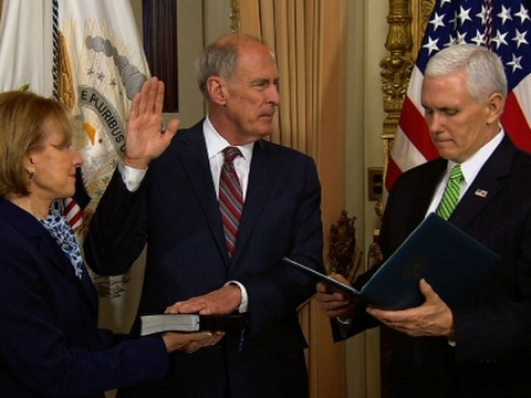 Coats Sworn In As National Intelligence Director