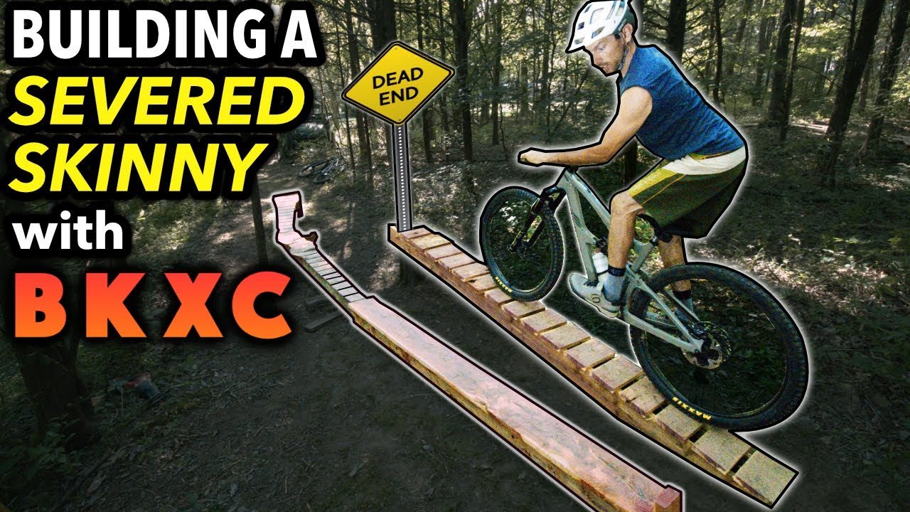 BKXC rides our Backyard Bike Park and we Build a SEVERED SKINNY! // New Floating Skinny Record??