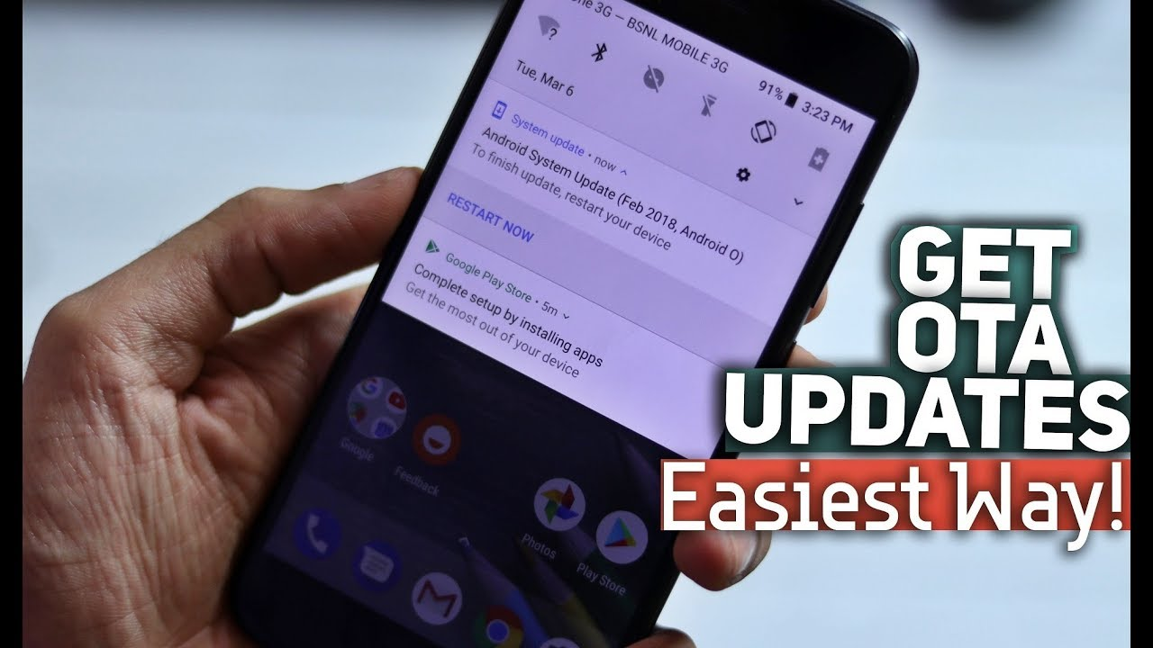 Force OTA Updates on Any Pixel or Android One Phone ft  Mi A1 | Easiest Way!