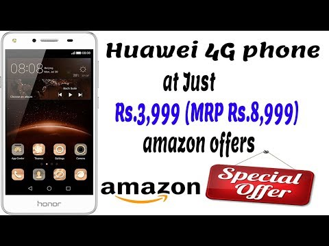 Amazon offers - 4G Phone at Just Rs.3,999 (MRP Rs.8,999) - Huawei Honor Bee