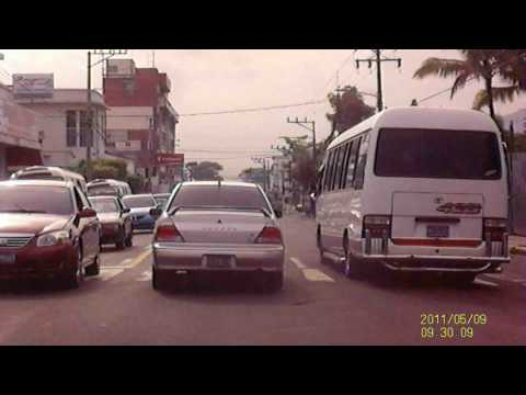 Dash Cam - Downtown San Salvador clip 2 - underdeloped city or overpopuleted