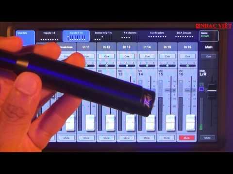 QSC Touchmix 8 & 16 version 3.0: cắt hú tự động và đo tần số EQ trong khán phòng