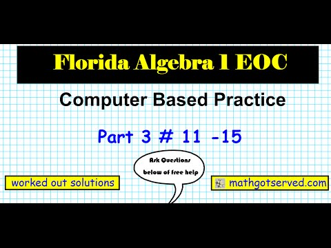 Algebra 1 FSA Review | Smore Newsletters