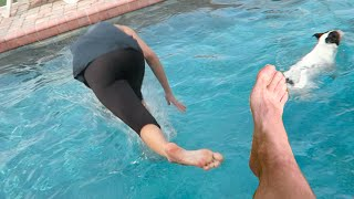 KICKED GIRLFRIEND IN POOL! (4.21.15 - Day 2184)