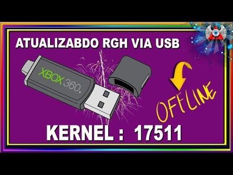 [360] • Atualizando RGH Para o Kernel:17511 | Off | Via USB ( Pen Drive )
