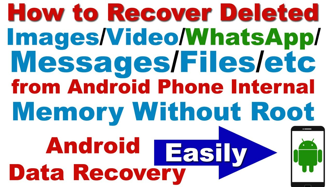 How To Recover Deleted Images Video Whatsapp Messages