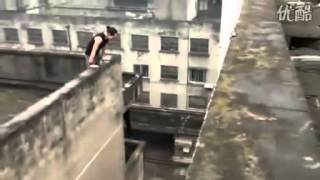 Parkour fail almost ends in death