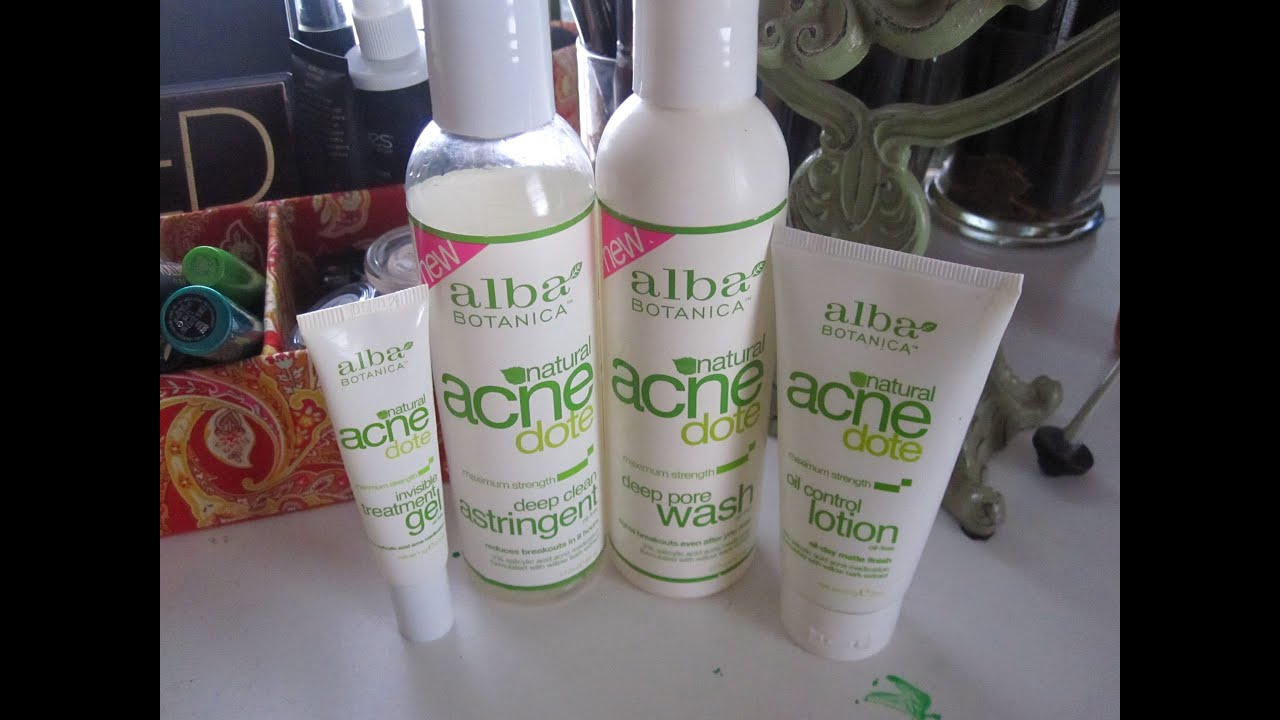 Alba Botanica Acnedote Products Review