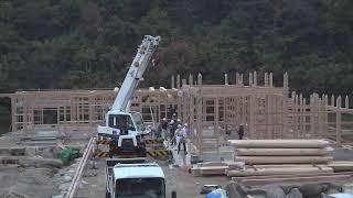 大工建前1日目 後半 LIVE #2(11/27)木造伝統構法で家を建てる方法・建て方初日の工程~小林建工