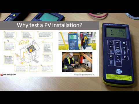 Free Solar PV Webinars and Solar Training from Seaward