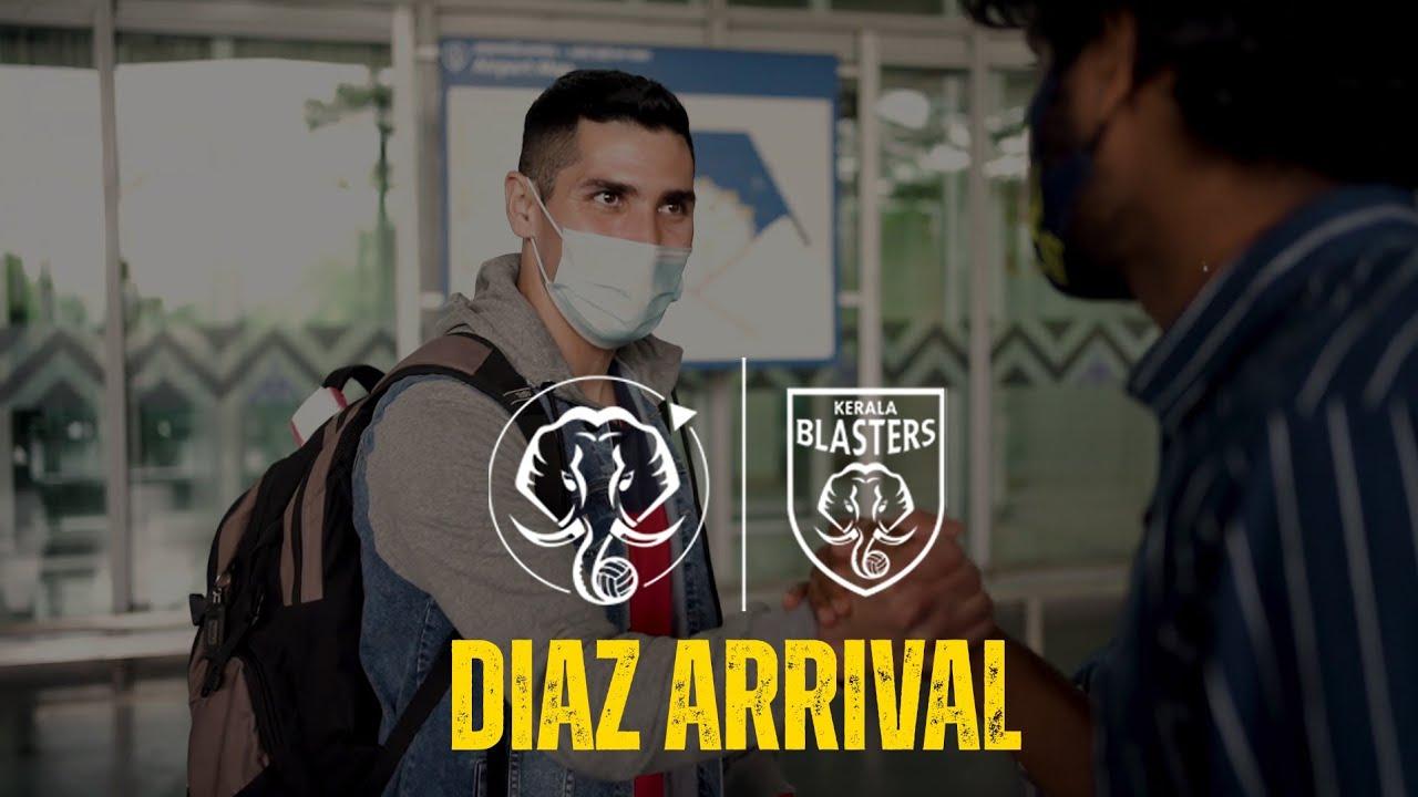 Jorge Pereyra Diaz Arrival   Kerala Blasters
