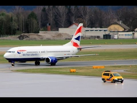 British Airways 737-400 SZG-LGW Club Europe Flight Experience