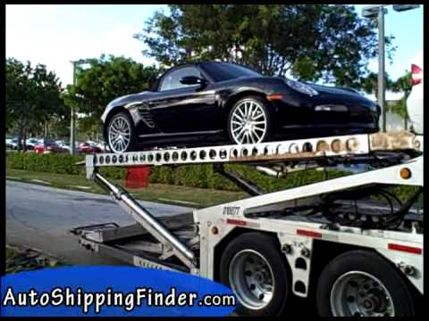 BMW and Porsche are Loaded on to Car Transport Carrier ...