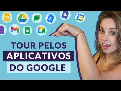 Tour pelos aplicativos do Google Workspace - Gmail, Drive, Meet, Agenda, Forms, Chat, Planilha, etc