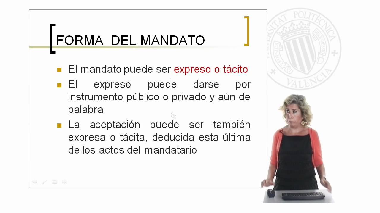 El contrato de mandato | 68/128 | UPV - YouTube
