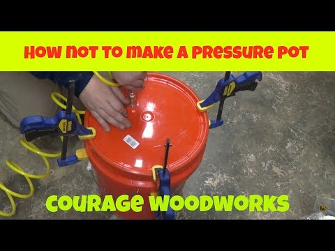 How not to make an epoxy pressure pot