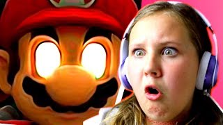 ESCAPING FROM EVIL SUPER MARIO!!