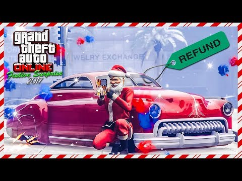Rockstar Gives FREE Money Refund To Players In GTA Online For Christmas Day 2017 Gift FREE Vehicle!