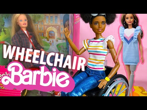 WHEELCHAIR BARBIE Doll from 1998 VS 2019