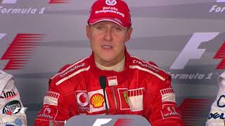 Take a look back at when michael schumacher announced his retirement - for the first time in emotional circumstances ferrari's home race.for more f1® vi...
