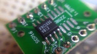 Цифровой потенциометр X9C103 и Ардуино