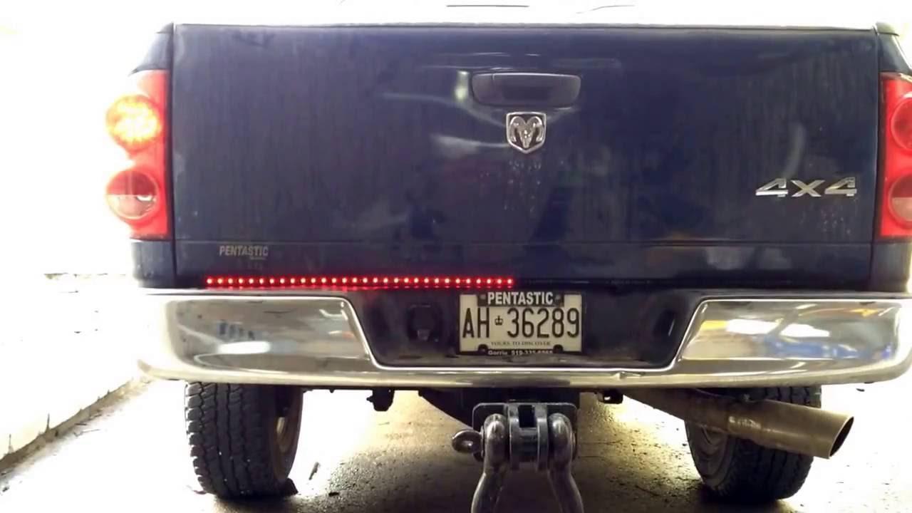 Led Tailgate Light Strip Install On Cummins Youtube Wiring