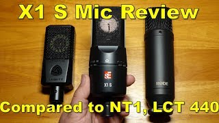 sE Electronics X1 S Microphone Review and Comparison