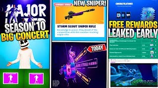 *NEW* Fortnite: Major Lazar & Marshmello CONCERT! Leaked 2nd Birthday Promo, SEASON 10 INFO, Sniper!