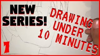 LEARNING TO DRAW! Drawing Under 10 Minutes! - Ayanokoji (NEW SERIES)