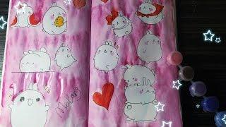 Идеи для личного дневника ( ЛД ) / Разворот: Molang Bunny