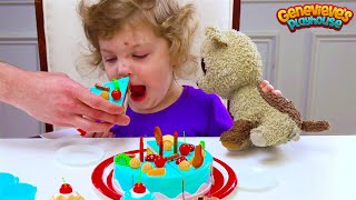 Let's make a toy Birthday Cake for Genevieve's stuffie!