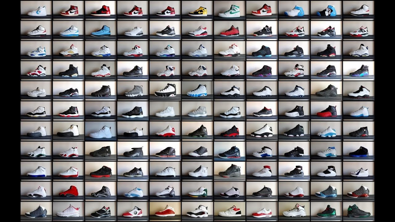 Image result for michael jordan's shoe collection