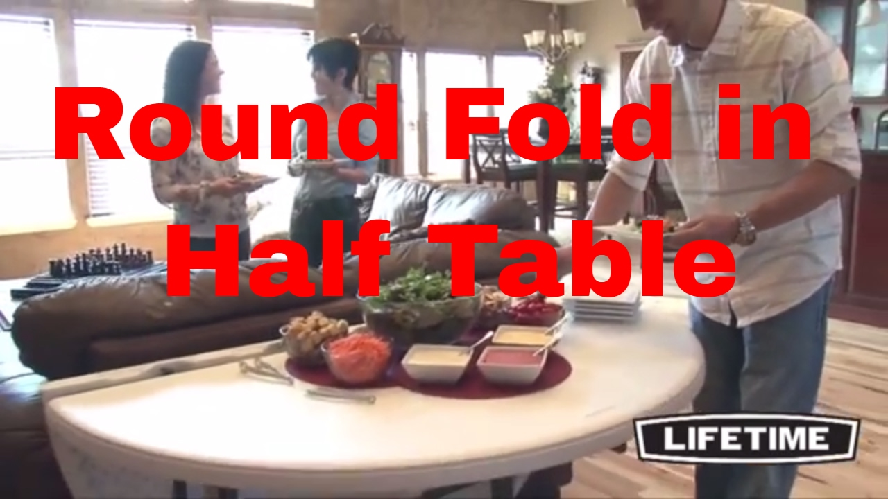 5402 Lifetime 60 Round Fold In Half Table