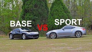 Base Model VS Sports Package 370z comparison.
