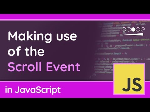 The scroll Event In JavaScript | Window.onscroll
