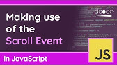 javascript disable scrolling - YouTube