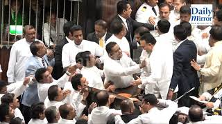 Tense situation in Parliament