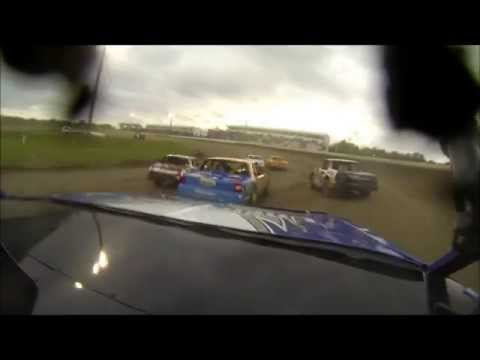 AJ Zvorak - WISSOTA Street Stock at Deer Creek Speedway - Olympic Fire Protection In-Car Cam