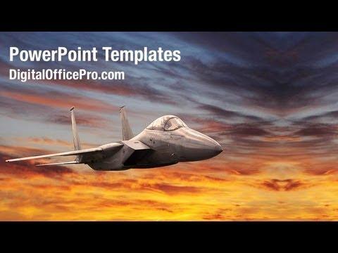 Military Aircraft PowerPoint Template Backgrounds - DigitalOfficePro #01747W