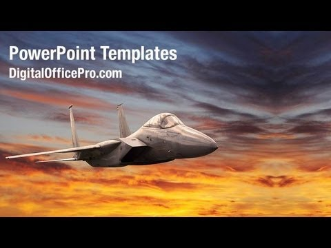 military aircraft powerpoint template backgrounds, Modern powerpoint