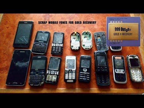 Scrap mobile phones for gold recovery and a small conversation :)