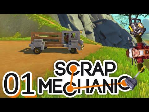 Scrap Mechanic ep01: В гаража на Пресли!