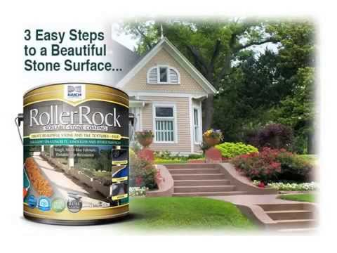 Coating Concrete With Rollerrock