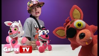 Funtime Freddy and Funtime Foxy Arcade Plushies by GOODSTUFF