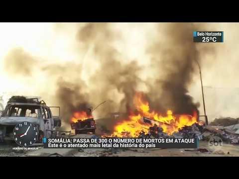 Mais de 300 pessoas morreram no maior atentado da Somália | SBT Brasil (16/10/17)
