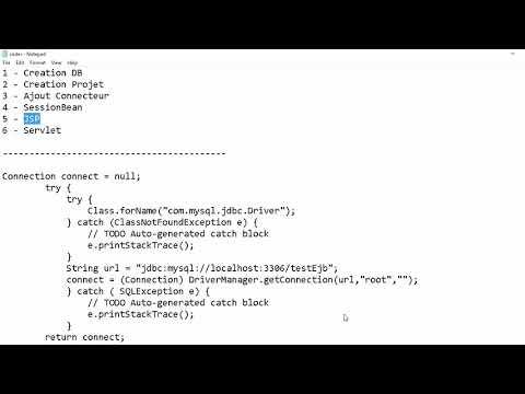 Ajout Avec EJB , Servlet, JSP Et Mysql Sous NetBeans (Module Coda) JavaEE