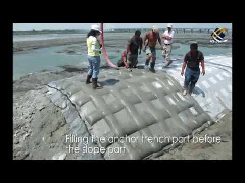 ACEFormer Geotextile Mattress Installation for Slope and River Protection